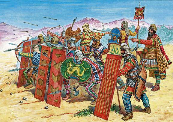 Achaemenian Persian Regiment in Battle