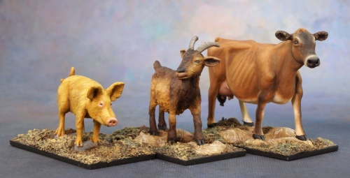 03719 Animal companions goat pig cow (e Andrew Pieper)