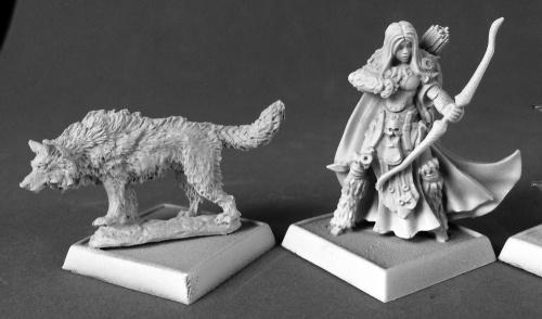 60181 Adowyn & Leryn (iconic hunter and wolf ) (e Bobby Jackson & Julie Guthrie)